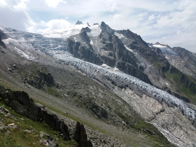 Sous la fenêtre d'Arpette, le glacier du Trient