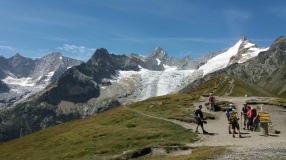 Au col du Grand Ferret, Leschaux, Talefre, Triolet, Dolent